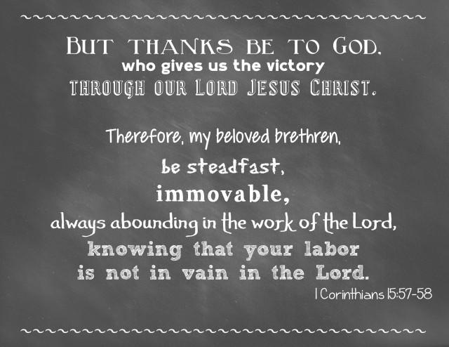 1 Cor 15:57-58
